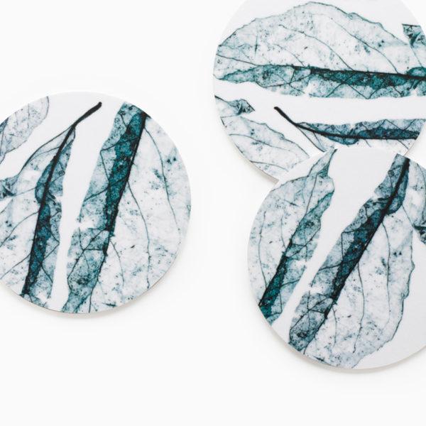blå glasunderlägg